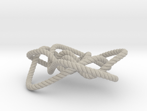 Ochiai unknot (Rope with detail) in Natural Sandstone: Medium
