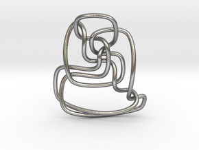 Thistlethwaite unknot (Circle) in Natural Silver: Extra Small