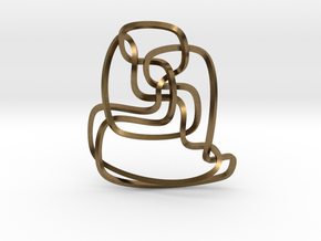 Thistlethwaite unknot (Square) in Natural Bronze: Extra Small
