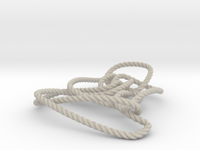 Thistlethwaite unknot (Rope) in Natural Sandstone: Medium