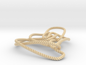 Thistlethwaite unknot (Rope with detail) in 14k Gold Plated Brass: Medium