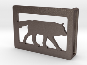 Belt Buckle - Wolf - M1FE in Stainless Steel