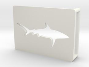 Belt Buckle - Shark - M1SE in White Natural Versatile Plastic