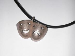 Tragedy and Comedy Necklace in Stainless Steel