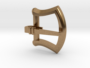 """1/2"""" small buckle with tongue in Natural Brass"""