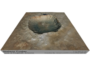 Meteor Crater Map, Arizona: 6 Inch in Full Color Sandstone