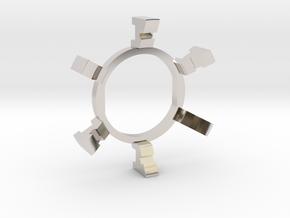 "HILT GX12/MT30 Connector Holder 7/8"" Gate Ring in Rhodium Plated Brass"