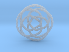 Rose knot 4/5 (Rope with detail) in Smooth Fine Detail Plastic: Extra Small