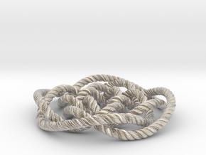 Rose knot 4/5 (Rope with detail) in Platinum: Medium