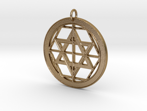 Martinist Pentacle I in Polished Gold Steel