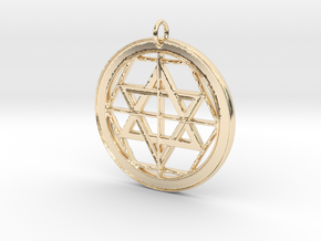 Martinist Pentacle I in 14k Gold Plated Brass