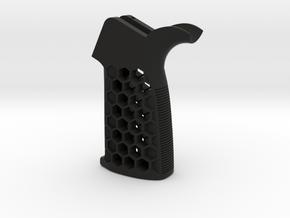 Shiny Kieran-Vihelmo (AR-15 Pistol Grip) in Black Natural Versatile Plastic