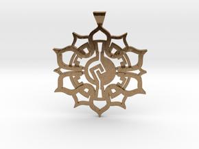 Lotus Pendant in Natural Brass