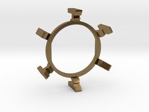 "HILT GX16/MT30 Connector Holder 1"" Gate Ring in Natural Bronze"