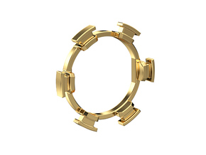 "HILT GX16 Connector Holder 7/8"" Gate Ring in Natural Brass"