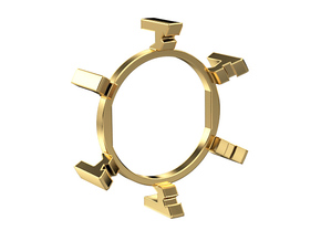 "HILT GX16/MT30 Connector Holder 1"" Gate Ring in Natural Brass"