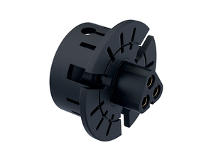 """BLADE MT30 Connector Holder 1"""" (THICK) V1 in Black Strong & Flexible"""