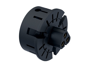"BLADE MT30 Connector Holder 1"" V1 in Black Natural Versatile Plastic"