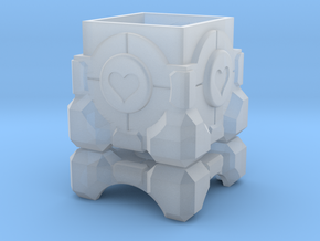 Portal Companion Cube Ring Box in Smoothest Fine Detail Plastic: Medium
