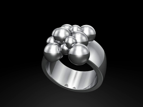 Spheres 14.9 mm in Fine Detail Polished Silver
