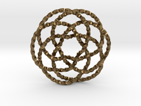 Rose knot 6/5 (Twisted square) in Natural Bronze: Extra Small