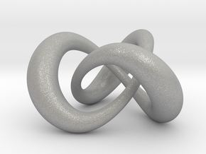 Varying thickness trefoil knot (Circle) in Aluminum: Medium