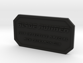 Label for PKD M2019 in Black Natural Versatile Plastic