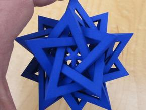 Five Tetrahedra Plus in Blue Processed Versatile Plastic