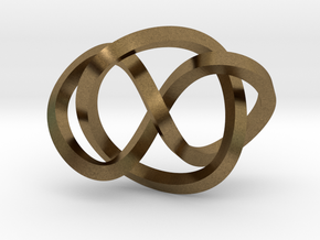 Whitehead link (Square) in Natural Bronze (Interlocking Parts): Extra Small