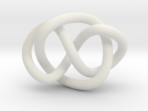 Whitehead link (Circle) in White Natural Versatile Plastic: Extra Small