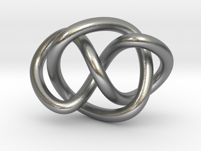 Whitehead link (Circle) in Natural Silver (Interlocking Parts): Extra Small