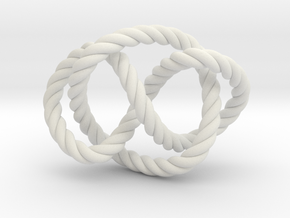 Whitehead link (Rope) in White Natural Versatile Plastic: Extra Small