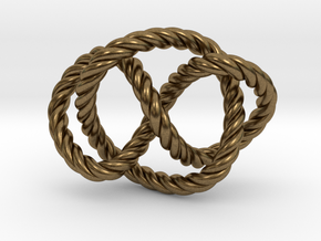 Whitehead link (Rope) in Natural Bronze (Interlocking Parts): Extra Small