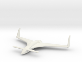 Long-EZ  wing span 5cm/2in in White Natural Versatile Plastic