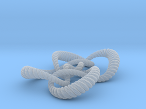 Symmetrical knot (Rope with detail) in Smooth Fine Detail Plastic: Extra Small