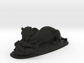 Tiger Devouring a Gavial by Antoine-Louis Barye in Black Natural Versatile Plastic