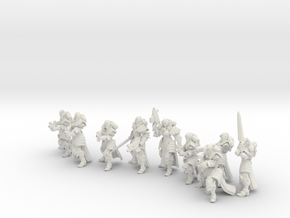 32mm Gothic war Sisters in White Natural Versatile Plastic