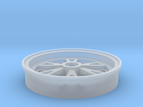1/25 scale 1962 Halibrand rear wheel in Smooth Fine Detail Plastic