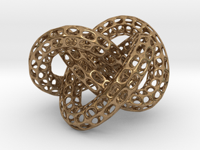 Webbed Knot with Intergrated Spheres in Natural Brass (Interlocking Parts)
