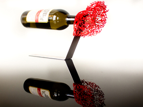 Coral Wine Holder in Red Processed Versatile Plastic