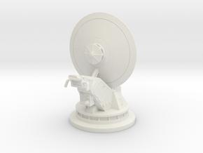 dish turret 1:44 scale in White Natural Versatile Plastic