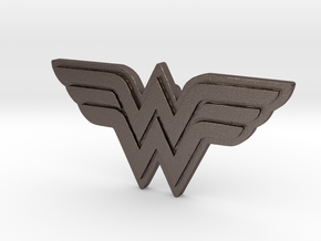 Wonder Women - Pendant & Necklace in Polished Bronzed Silver Steel