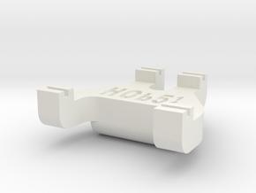 HOb5¼ Track Gauge - Code 70 in White Natural Versatile Plastic