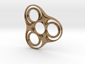 Trefoil Circle Spinner in Natural Brass