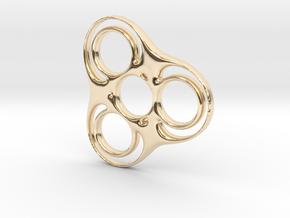 Trefoil Circle Spinner in 14k Gold Plated Brass