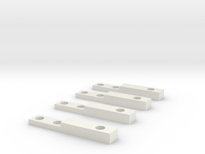 GEAR Switch Brakets in White Natural Versatile Plastic