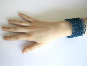 Stitch Bracelet - M in Blue Processed Versatile Plastic