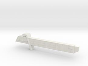 Darksaber (SW:Rebels, Post Maul Version) in White Natural Versatile Plastic