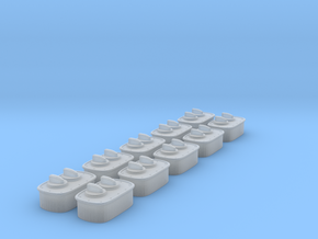 1/25 Wall Switch E Set x10 in Smooth Fine Detail Plastic