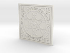 1:9 Scale Limehouse Manhole Cover in White Strong & Flexible